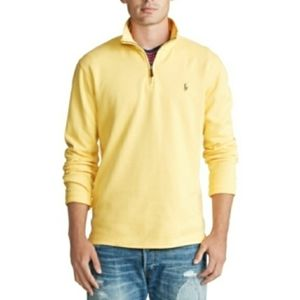 POLO RALPH LAUREN MENS YELLOW ZIP PULLOVER